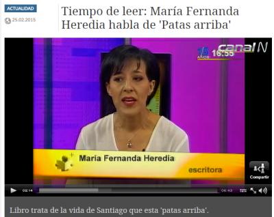 Entrevista-María Fernanda Heredia habla de 'Patas arriba'