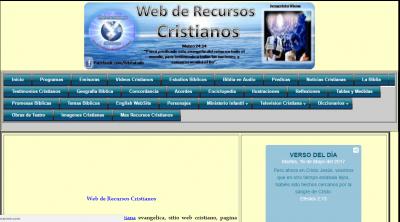 WEB DE RECURSOS CRISTIANOS DE LA BIBLIA