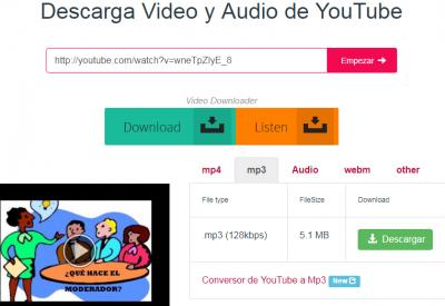Descarga Video y Audio de YouTube