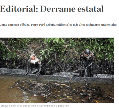 Editorial: Derrame estatal