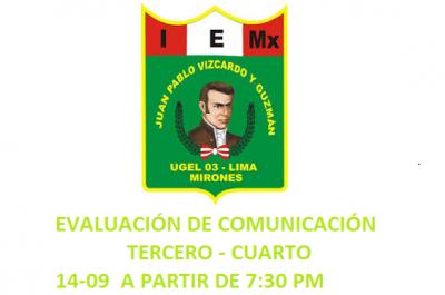 EVALUACIÓN DE COMUNICACIÓN